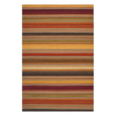 <strong>Safavieh</strong> Striped Kilim Gold Rug