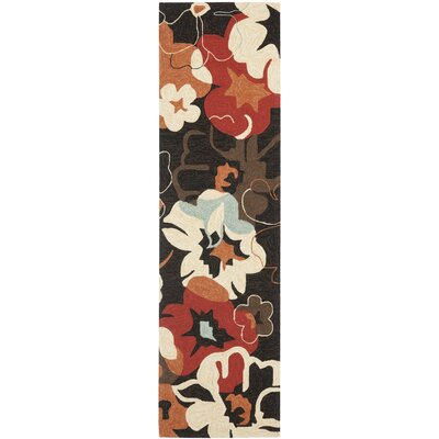 Four Seasons Black / Orange Outdoor Rug