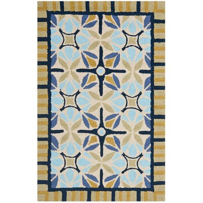 Safavieh Four Seasons Tan / Blue Outdoor Rug