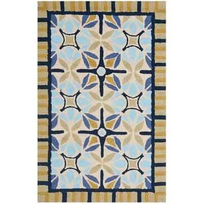 Safavieh Four Seasons Tan / Blue Outdoor Rug