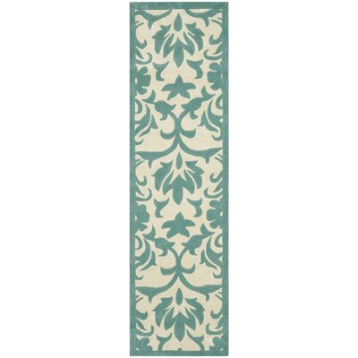 Modern Art Ivory / Light Blue Rug