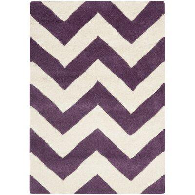 Chatham Purple/Ivory Chevron Rug