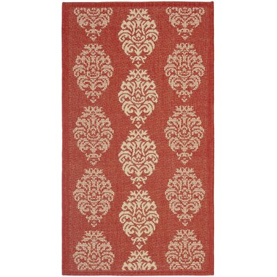 Safavieh Courtyard Red/Natural Rug
