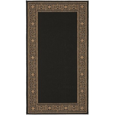 Courtyard Black/Coffee Rug