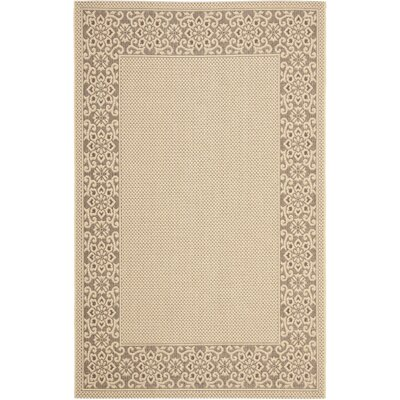 Courtyard Cream/Light Chocolate Floral Rug