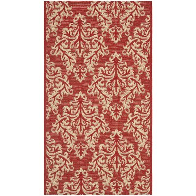 Courtyard Red/Creme Rug