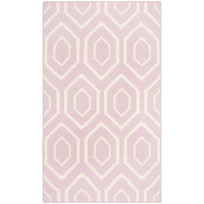 Dhurries Pink/Ivory Rug