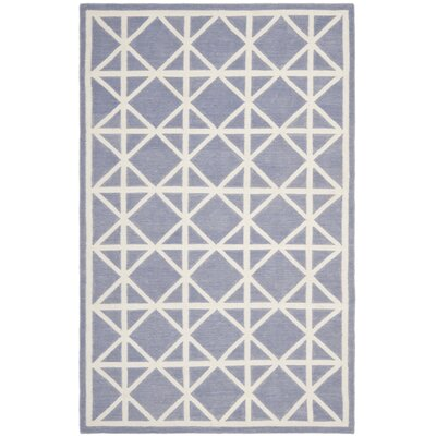 Dhurries Purple/Ivory Rug