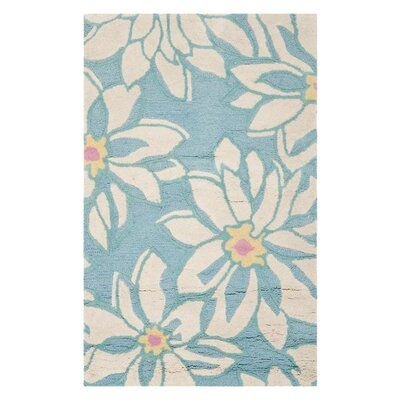 <strong>Safavieh</strong> Blossom Light Blue/Ivory Floral Rug