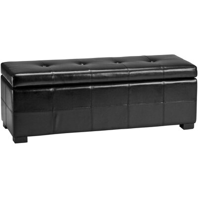 Safavieh Maiden Leather Entryway Storage Ottoman