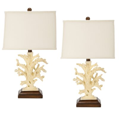 Safavieh Coral Table Lamp in White (Set of 2)