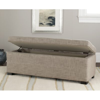 Safavieh park upholstered entryway storage ottoman reviews wayfair Gray storage bench