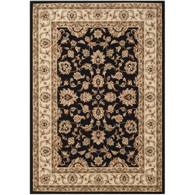 Majesty Black / Creme Traditional Rug