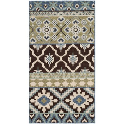 Safavieh Veranda Chocolate / Blue Rug