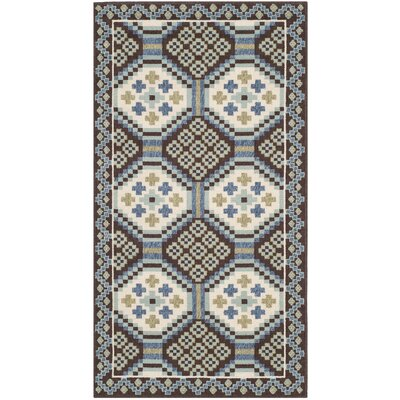 Safavieh Veranda Blue / Chocolate Rug