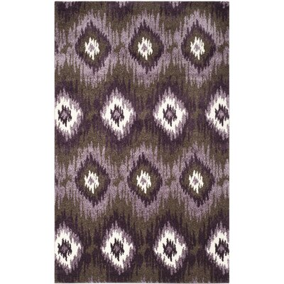 Safavieh Retro Dark Brown / Eggplant Rug