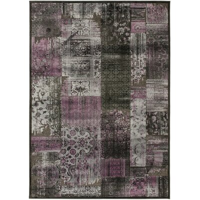 Paradise Charcoal Floral Rug