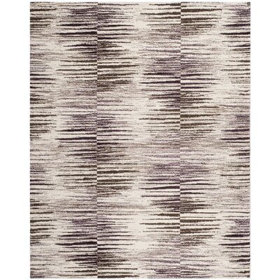 Safavieh Retro Light Brown / Eggplant Rug