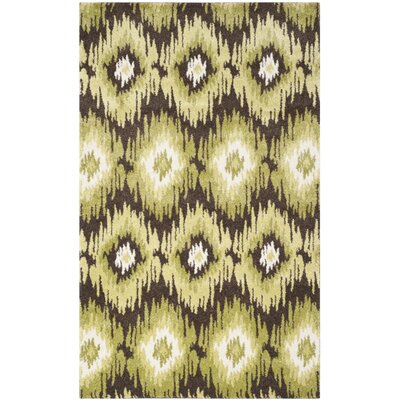 Safavieh Retro Dark Brown / Green Rug