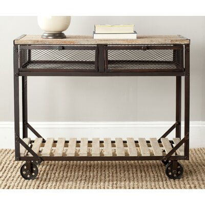 Shroder Rolling Console Table