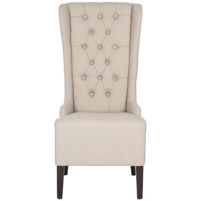 High back linen chair wayfair for High back parsons chair