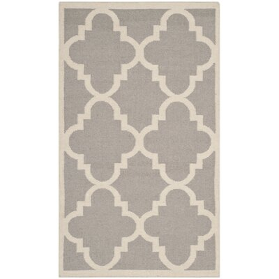 <strong>Safavieh</strong> Dhurries Dark Grey/Ivory Rug