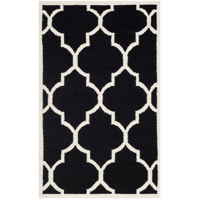 Safavieh Dhurries Black/Ivory Rug
