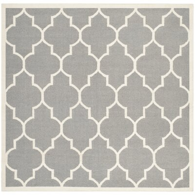 Safavieh Dhurries Grey/Ivory Rug