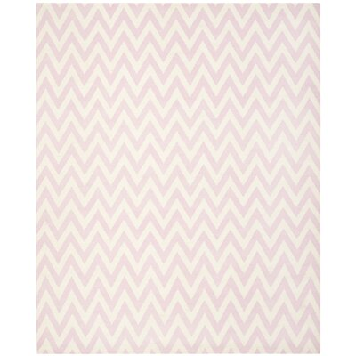 Safavieh Dhurries Pink/Ivory Rug