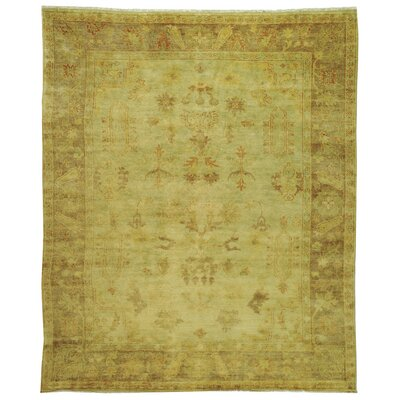 Oushak Soft Green / Rust Rug