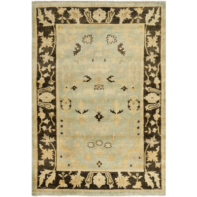 Oushak Light Blue / Brown Rug