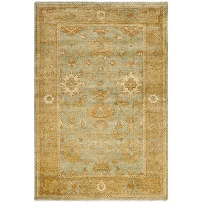 Oushak Dark Green / Brown Rug