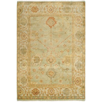 Oushak Dark Green / Light Green Rug
