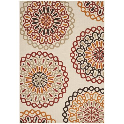 Safavieh Veranda Creme / Red Outdoor Rug