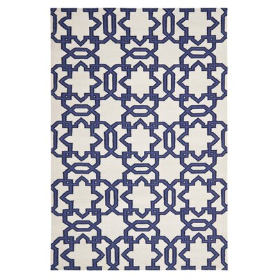 Dhurries Ivory / Purple Rug