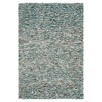 <strong>Safavieh</strong> Leather Shag Light Blue Rug