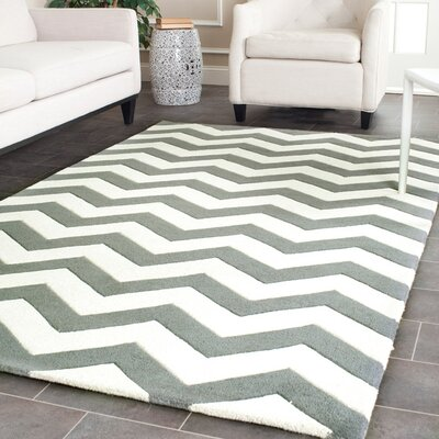Safavieh Chatham Dark Grey/Ivory Chevron Rug