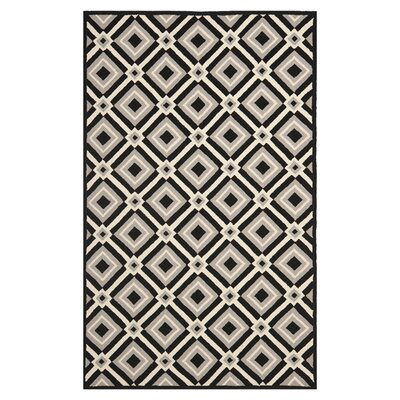 Safavieh Four Seasons Black / Grey Outdoor Rug