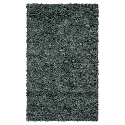 <strong>Safavieh</strong> Leather Shag Grey Rug