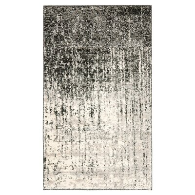Safavieh Retro Black/Light Grey Rug