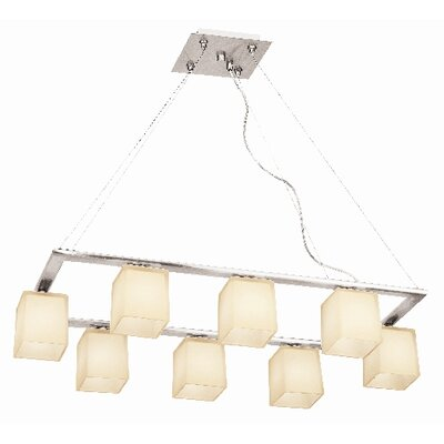 Hermes 8 Light Cable Chandelier with Glass