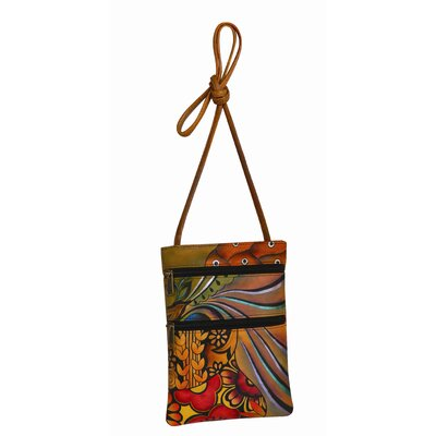 Anuschka Patchwork Garden Double Zip Travel Cross-Body