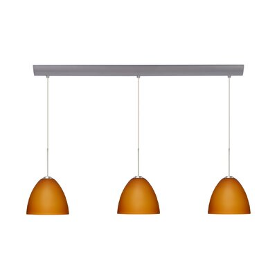 Sasha II 3 Light Mini Pendant with Bar Canopy