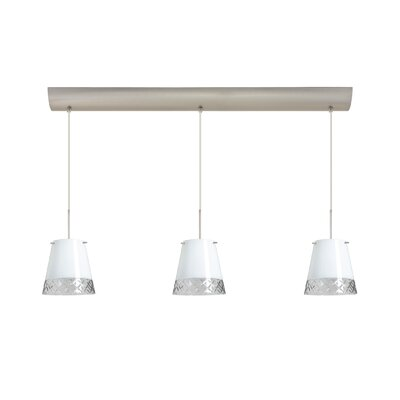 Amelia 3 Light Pendant with Bar Canopy