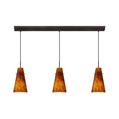 Cierro 3 Light Pendant with Bar Canopy