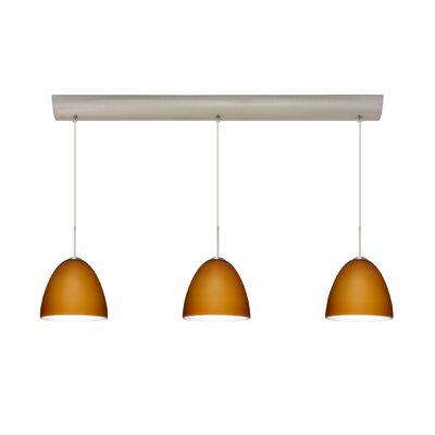 Vila 3 Light Pendant with Bar Canopy