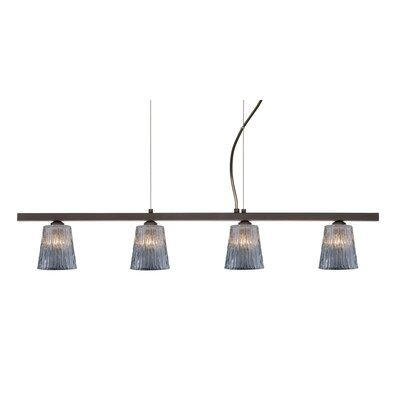Besa Lighting Nico 4 Light Linear Pendant