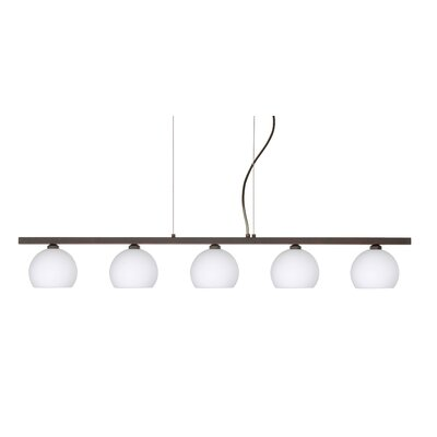 Besa Lighting Palla 5 Light Linear Pendant