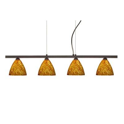 Besa Lighting Mia 4 Light Cable Hung Linear Pendant