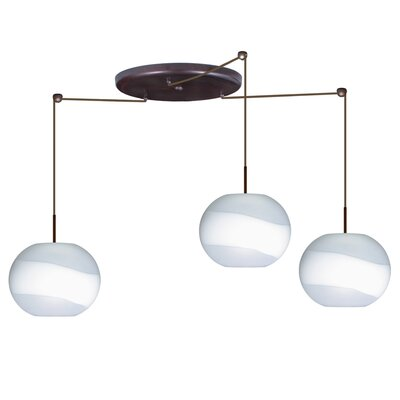 Besa Lighting Luna 3 Light Globe Pendant